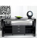 Newton Black High Gloss Sideboard