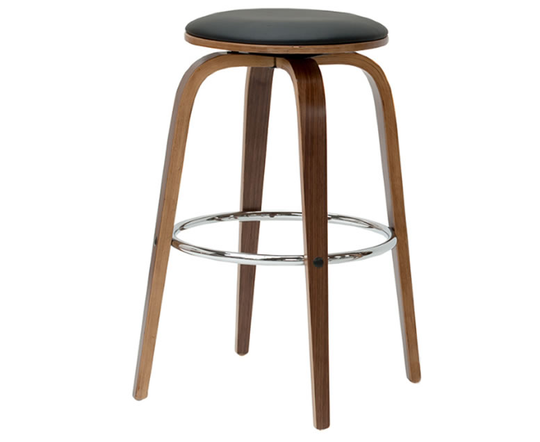 Winsford Black Faux Leather Bar Stool