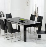 Newton Black High Gloss Dining Set