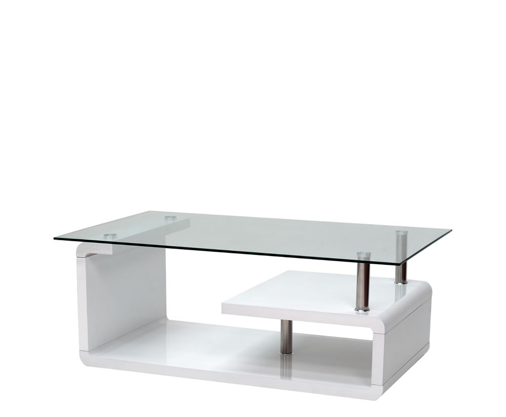 White And Glass Coffee Table