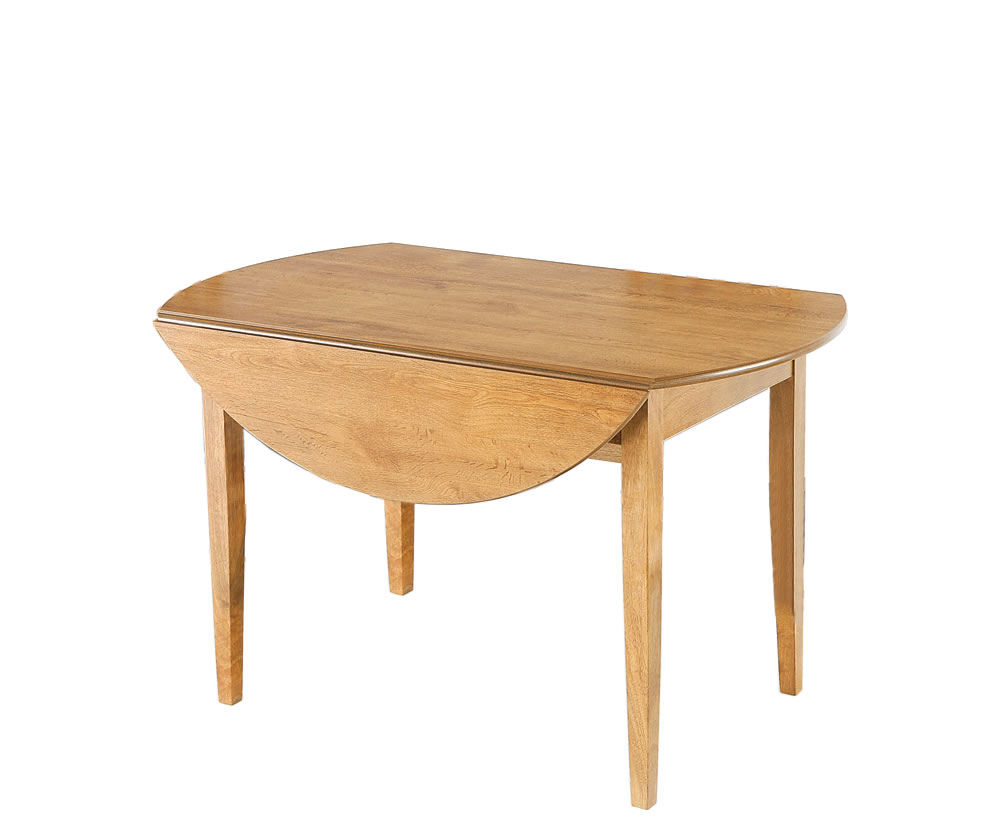 Augustine round drop leaf table only for Round drop leaf dining table