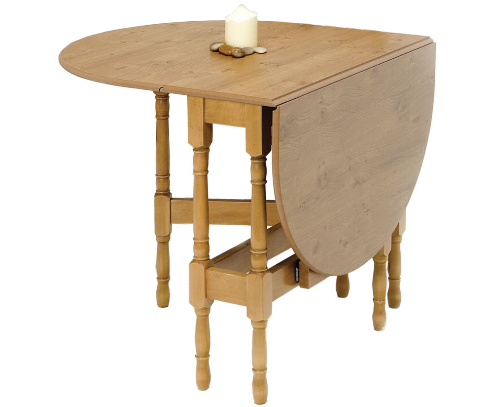 Amherst oval gateleg table only - Gateleg table and folding chairs ...