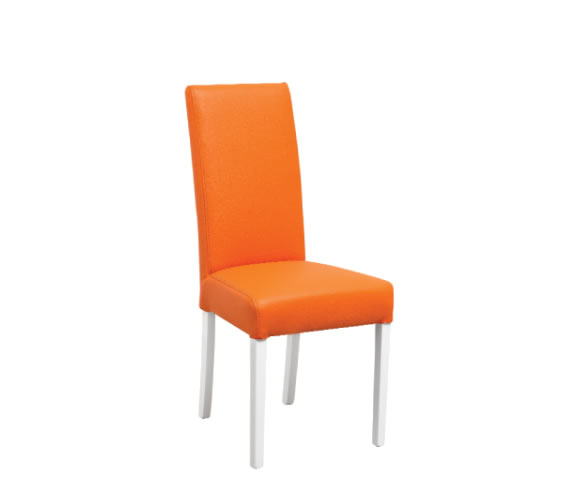 Bruix orange faux leather dining chair
