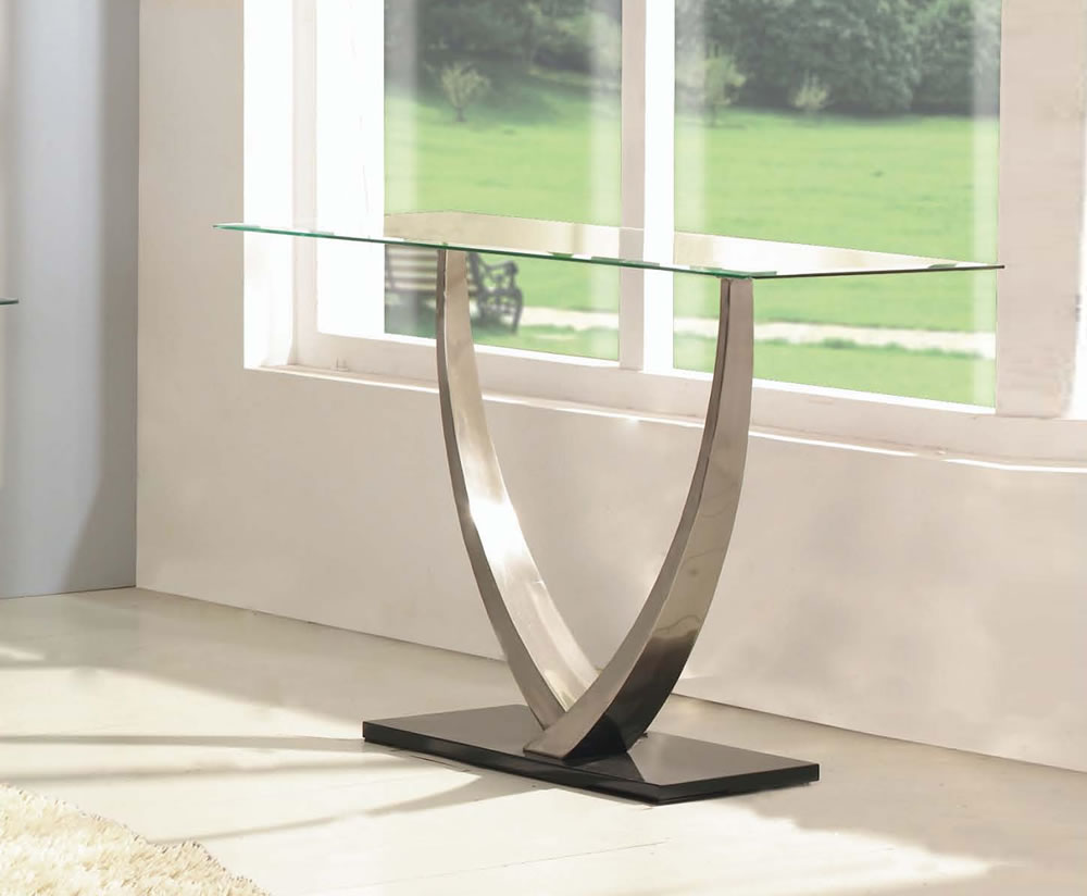 Piper glass console table