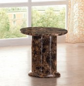 Verona Marble Round Lamp Table