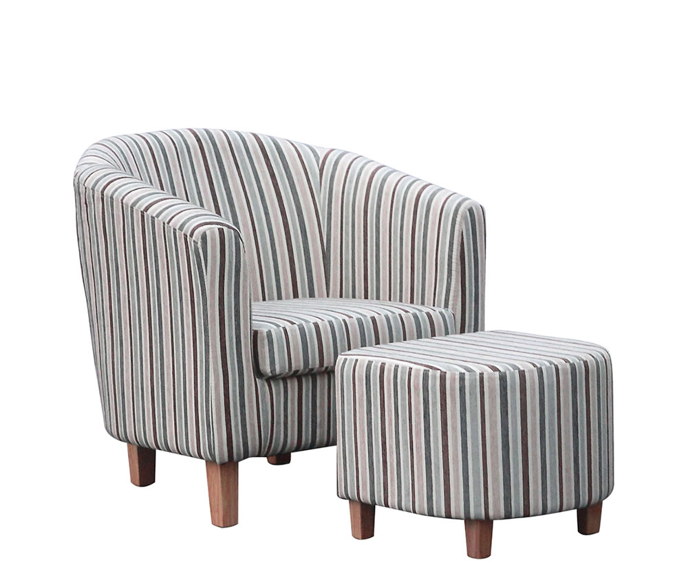 Fine Falkirk Duck Egg Blue Striped Tub Chair And Stool Home Interior And Landscaping Dextoversignezvosmurscom