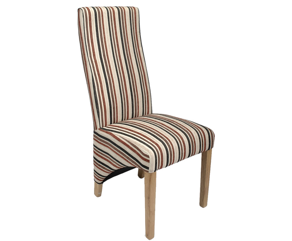 Striped dining room chairs roma stripe fabric dining for Striped upholstered dining chairs