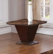 Gemini Marble Lamp Table