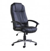 Monti Black Leather Faced Desk Chair