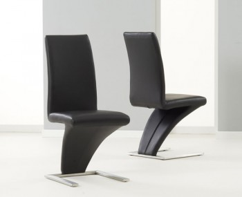 Holmes Black Faux Leather Dining Chairs