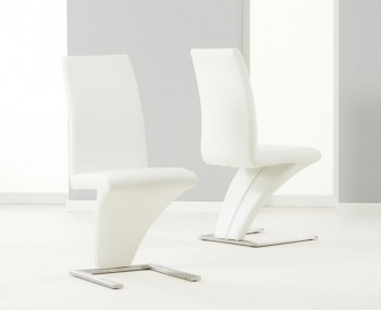 Holmes White Faux Leather Dining Chairs