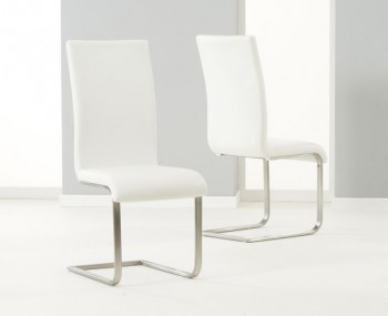 Monterey Off-White Faux Leather Dining Chairs
