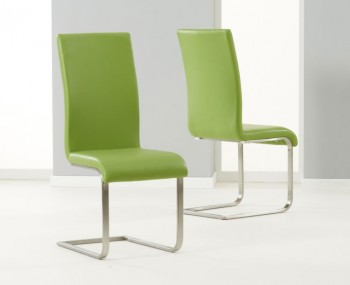 Monterey Green Faux Leather Dining Chairs
