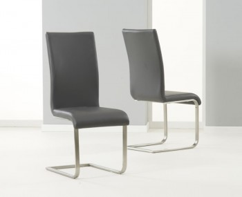 Monterey Grey Faux Leather Dining Chairs