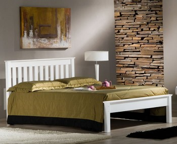 Kennedy White Wooden Bed Frame