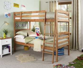 Clarke Hevea Honey Oak Bunk Bed