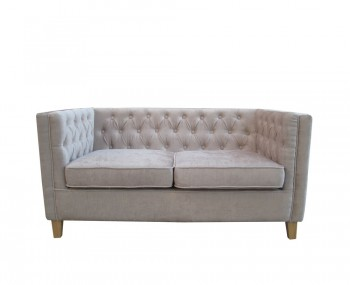 Barnaby Mink 2 Seater Upholstered Sofa