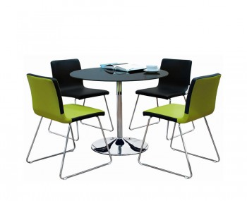 Chester Black Glass Kitchen Table And Chairs