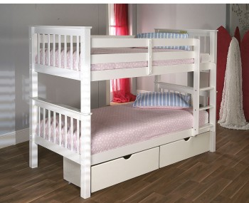 Paulie White Bunk Bed