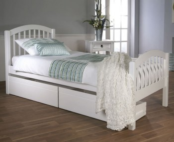 Diane White Wooden Bed Frame