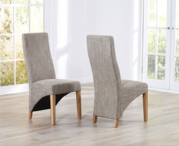 Collins Tweed Upholstered Dining Chairs