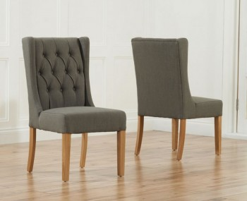 Silvia Grey Linen Upholstered Dining Chairs
