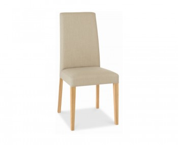 Miles Oak And Stone Upholstered Dining Chairs