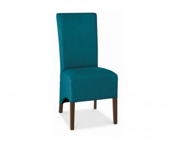 Nina Walnut and Teal Upholstered Dining Chairs