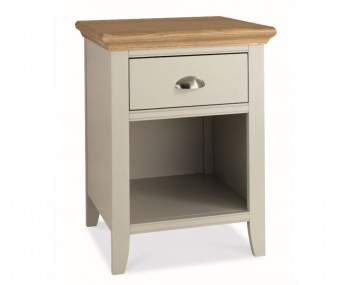 Hampstead Soft Grey and Oak Nightstand