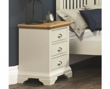 Hampstead Soft Grey and Oak Bedside Chest