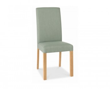Parker Oak And Aqua Upholstered Dining Chairs