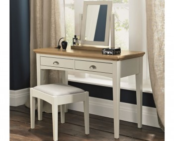 Hampstead Single Soft Grey and Oak Dressing Table