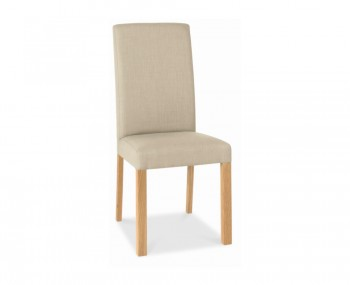 Parker Oak And Stone Upholstered Dining Chairs