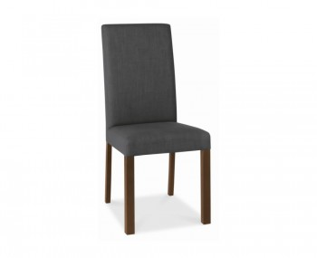 Parker Walnut And Charcoal Upholstered Dining Chairs