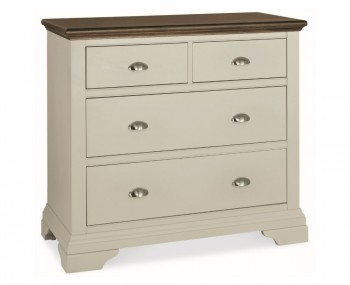 Hampstead Soft Grey and Walnut 2+2 Drawer Chest