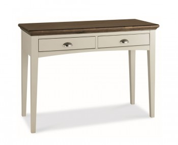 Hampstead Single Soft Grey and Walnut Dressing Table