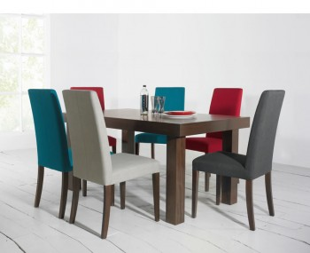 Miles Walnut Large Extending Dining Set