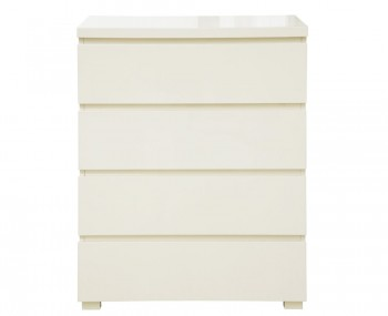 Puro Cream High Gloss 4 Drawer Chest