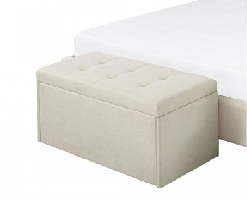 Bloomfield Cream Fabric Upholstered Ottoman