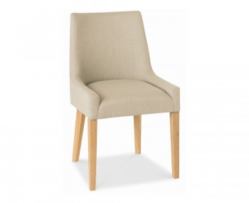 Ella Oak And Stone Upholstered Dining Chairs
