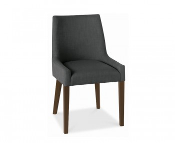 Ella Walnut And Charcoal Upholstered Dining Chairs