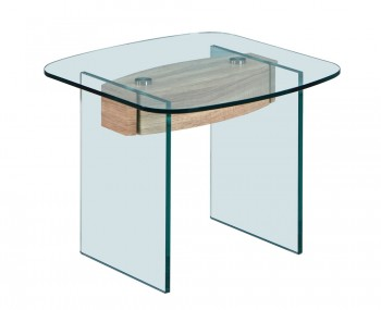 Delta Glass Lamp Table