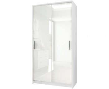 Queen White High Gloss Sliding Wardrobe