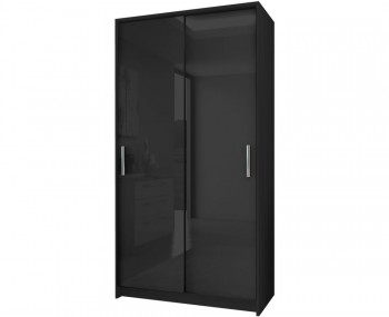 Knight Black High Gloss Sliding Wardrobe