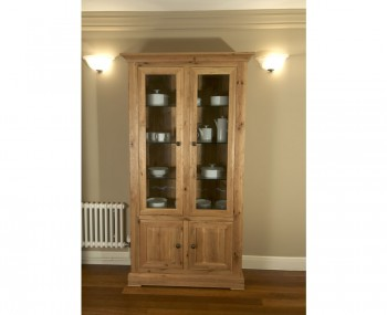 Montreux Solid Oak Display Cabinet