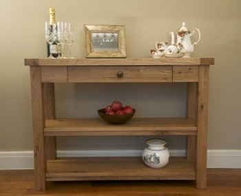 Roche Solid Oak Console Table