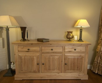 Roche Solid Oak 3 Door Sideboard