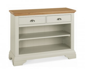Hampstead Soft Grey and Oak Console Table