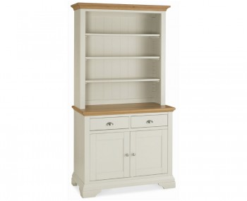 Hampstead Soft Grey and Oak Display Unit