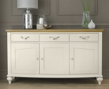 Hampstead Soft Grey and Oak Large Sideboard